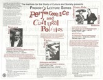 ICS Lecture Series 1998: Performance and Cultural Politics