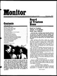 Monitor Newsletter May/June 1975