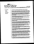 Monitor Newsletter August 18, 2003