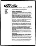 Monitor Newsletter April 12, 2004