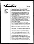 Monitor Newsletter August 16, 2004