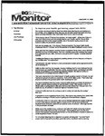 Monitor Newsletter January 17, 2005