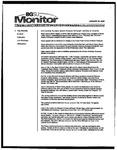 Monitor Newsletter January 24, 2005