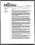 Monitor Newsletter January 31, 2005