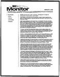 Monitor Newsletter February 14, 2005