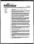 Monitor Newsletter April 18, 2005