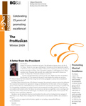 ProMusica Newsletter, Winter 2009 by BGSU College of Musical Arts