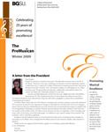 ProMusica Newsletter, Winter 2009