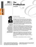 ProMusica Newsletter, Spring 2011 by BGSU College of Musical Arts
