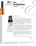 ProMusica Newsletter, Spring 2011