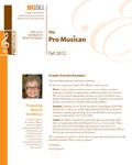 ProMusica Newsletter, Fall 2012