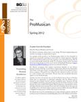 ProMusica Newsletter, Spring 2012