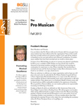 ProMusica Newsletter, Fall 2013 by BGSU College of Musical Arts