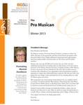 ProMusica Newsletter, Spring 2013 by BGSU College of Musical Arts