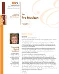 ProMusica Newsletter, Fall 2014