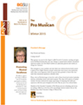 Pro Musica Newsletter, Winter 2015 by BGSU College of Musical Arts
