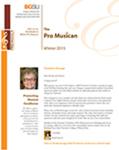Pro Musica Newsletter, Winter 2015