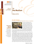 Pro Musica Newsletter, Winter 2016 by BGSU College of Musical Arts