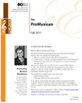 Pro Musica Newsletter, Fall 2011 by BGSU College of Musical Arts