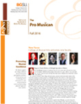Pro Musica Newsletter, Fall 2016 by BGSU College of Musical Arts