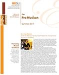Pro Musica Newsletter, Summer 2017 by BGSU College of Musical Arts