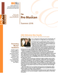Pro Musica Newsletter, Summer 2018 by BGSU College of Musical Arts