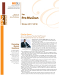 Pro Musica Newsletter, Winter 2017-2018 by BGSU College of Musical Arts